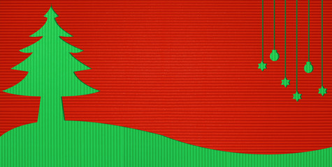Christmas Corrugated paper background