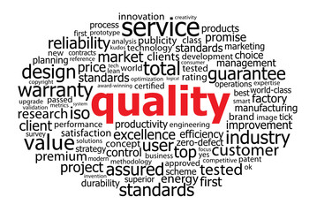 """QUALITY"" Tag Cloud (reliability efficiency guarantee service)"