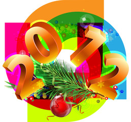 New Year decorative picture