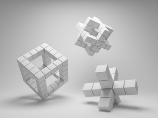 Design abstract geometry of the cubes