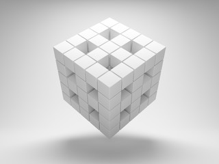 Design geometry of the cubes
