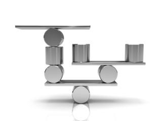 Balancing steel cylinders