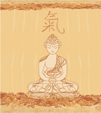 Chinese Traditional Artistic Buddhism Pattern poster