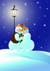 Снеговики на свидании