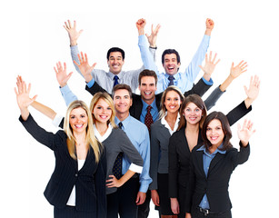 Happy Business people team.
