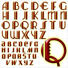 abc alphabet background arizona airways design