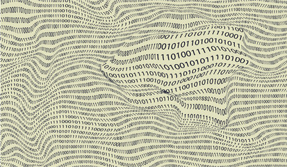 Vector background of binary numbers