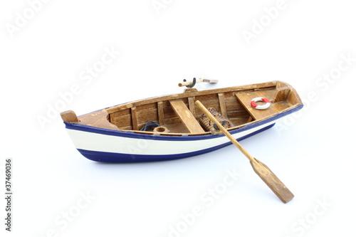Leinwandbild Motiv Barchetta di legno