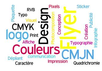 CMJN - Concept de couleurs