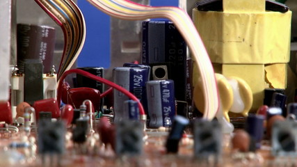 Electronics - circuit board - shallow depth of field