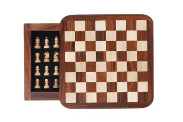 Board with a little pocket chess