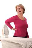 Hausfrau mit Rückenschmerzen..