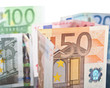 different euro banknotes