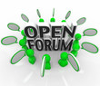 Open Forum Group of People Discussing Talking Questions