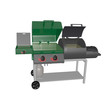 combination gas grill and smoker