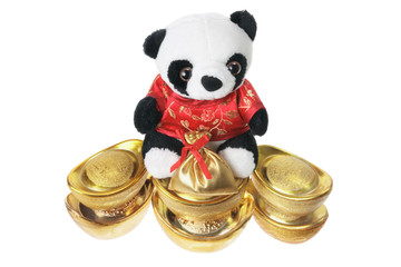 toy Panda and Gold Ingots