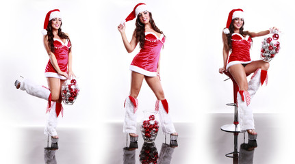 Sexy Santa and Christmas balls