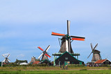 WindMills in Zaanse Schans near Amsterdam
