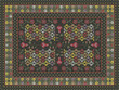 Ornate carpet design