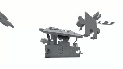 Puzzle-Haus 360 Grad