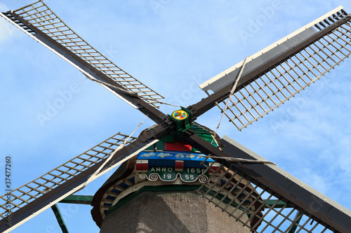 WindMill in Zaanse Schans near Amsterdam