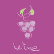 Logo Wine, bunch of grapes # Vector