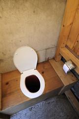 Longdrop toilet