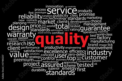 """QUALITY"" Tag Cloud (reliability engineering guarantee service)"