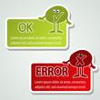 Vector message labels - speech bubbles