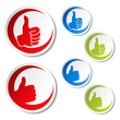 Vector best choice stickers - gesture hand