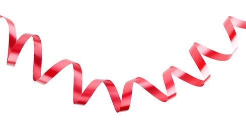 christmas  ribbon isolated on white