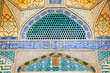 Tiled oriental Ateegh Jame mosque's wall , Esfahan, Iran