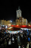 Christmas market on the Old Town Square in Prague, Czech Republi