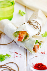 Tandoori Chicken Rolls