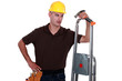Carpenter with equipment