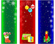 Christmas and new year banners.