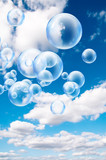 bubbles blue sky
