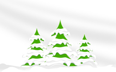 Winterlandschaft aus Bäumen - Konzept