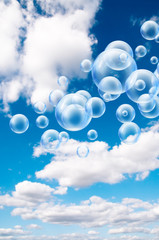 floating bubbles in clouds