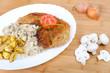 Schnitzel Wiener Art mit Champis