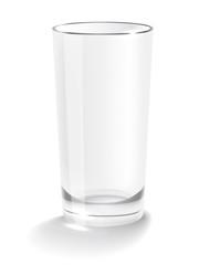 Empty glass мусещк illustration