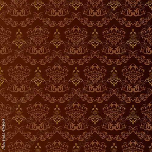 Seamless brown pattern