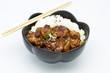 rice under fried pork