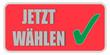CB-Sticker rot eckig oc JETZT WÄHLEN