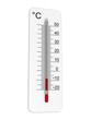 Leinwandbild Motiv Thermometer indicates low temperature