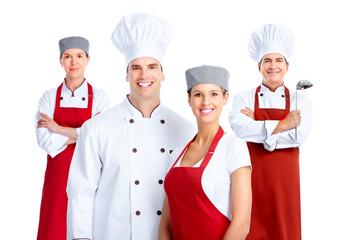 Chef group. Cooking.