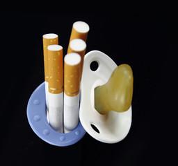Maternity and cigarette