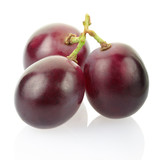 Red grape isolated, clipping path included