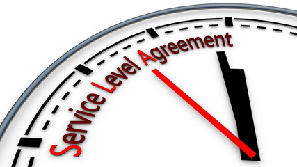 Illustration of Service-level agreement using clock concept