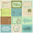 Scrapbook Paper Tags and Design Elements - Vintage Time